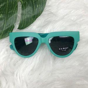 Nasty Gal • Teal Vintage Style Cat Eye Sunglasses